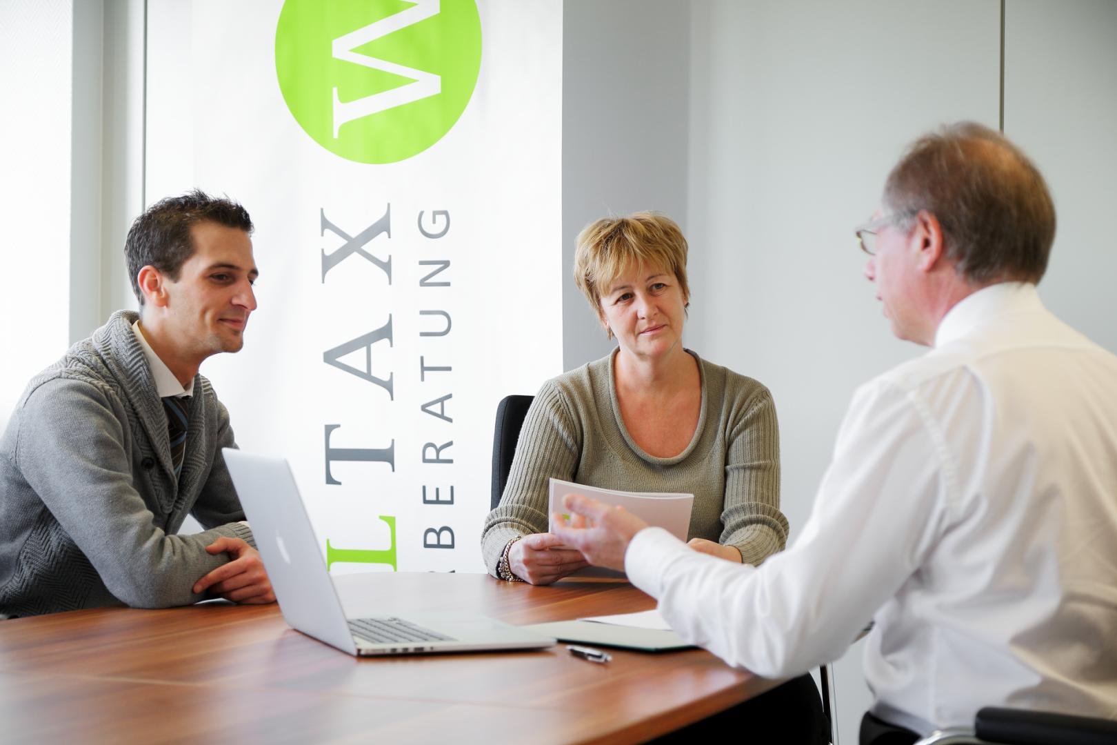 Kundengespräch Woltax Steuerberatung